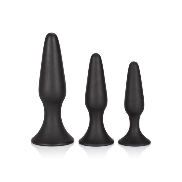 Silicone Anal Trainer Kit - Black