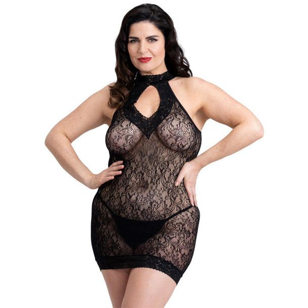 50 Shades Captivate Lace Spanking Mini Dress - Queen Size - Front