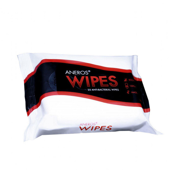 Aneros Unscented Anti-Bacterial Wipes 25 Wipes Per Pack