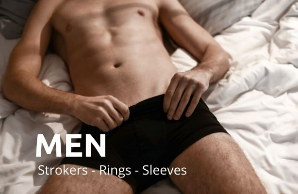 Sex Toys and Products for Men. Strokers, Erection Rings and Penis Extenders