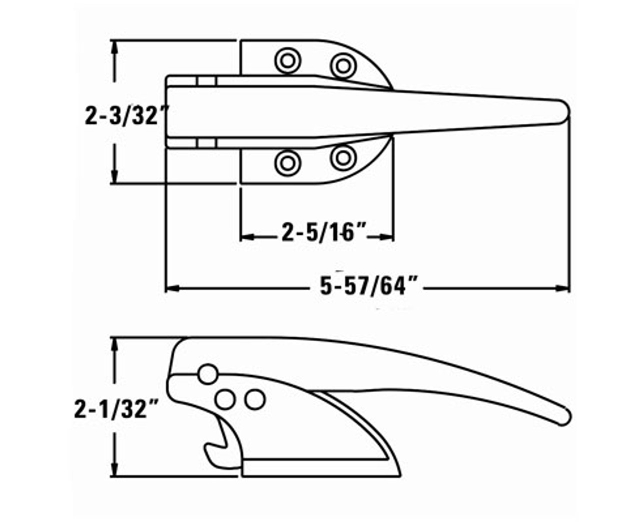 Kason 93- Trigger Action Latch with Adjustable Strike