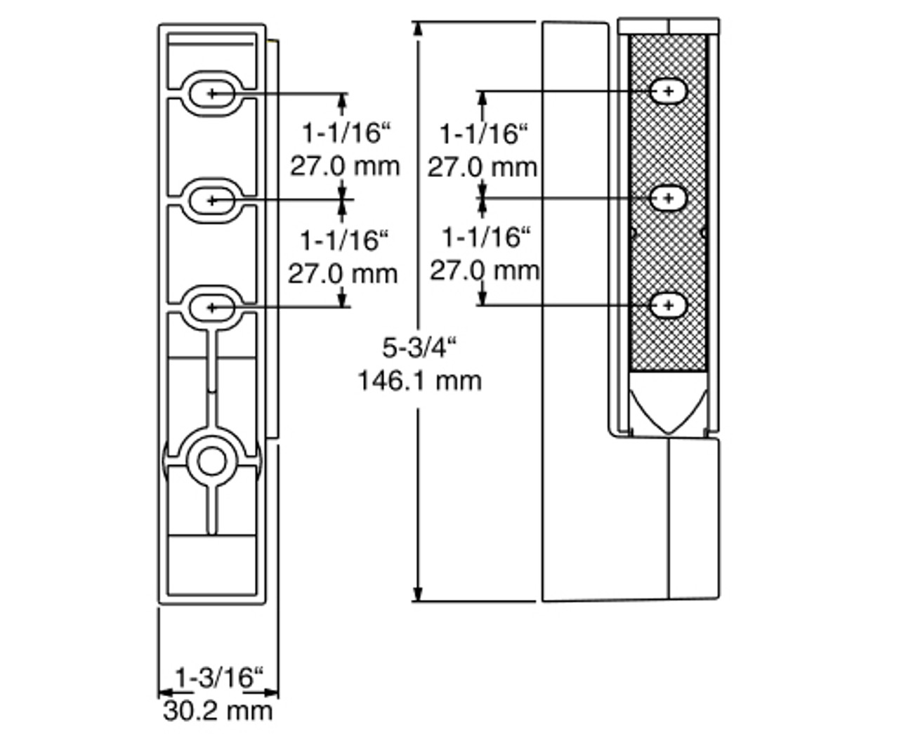 Kason-1467R-Double-Adjustable-Hinge-diagram-11467R00014
