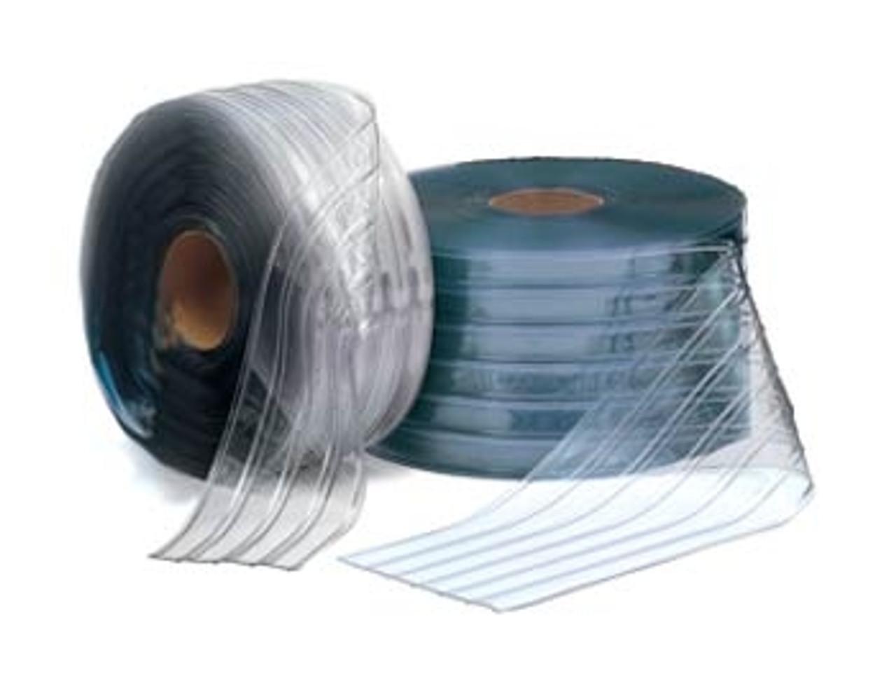 "8"" Freezer Ribbed Bulk Strip Curtain Roll"