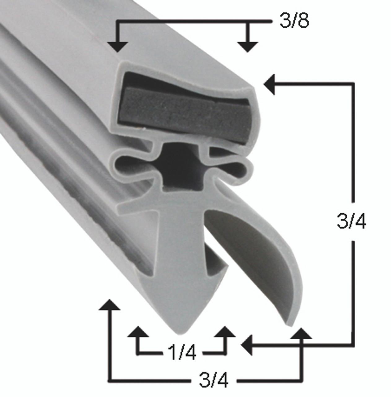 Silver King Cooler and Freezer Door Gasket 18 1/2 x 27 1/4_2