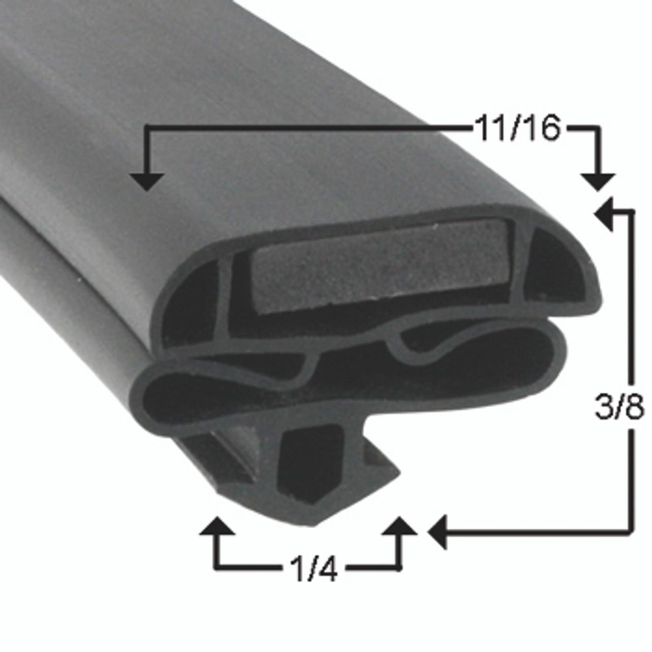 Zero Zone Door Gasket Profile 632 22 7/8 x 53 3/4 -2
