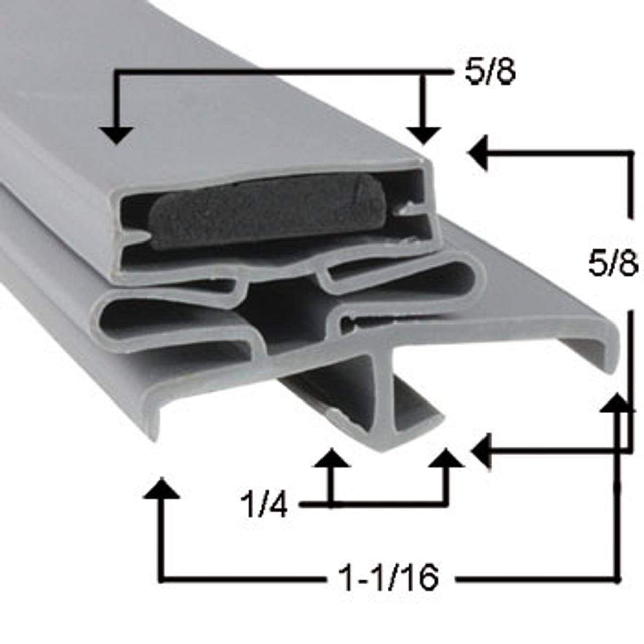 Traulsen Door Gasket Profile 165 29 1/4 X 64 3/4-2