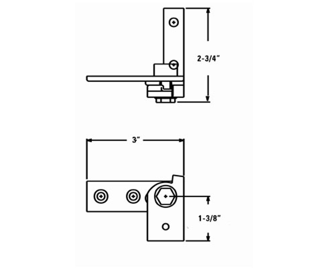 Kason-1521-pivot-hinge-for-reach-in-cooler-11521L00004-11521R00008-dimensions