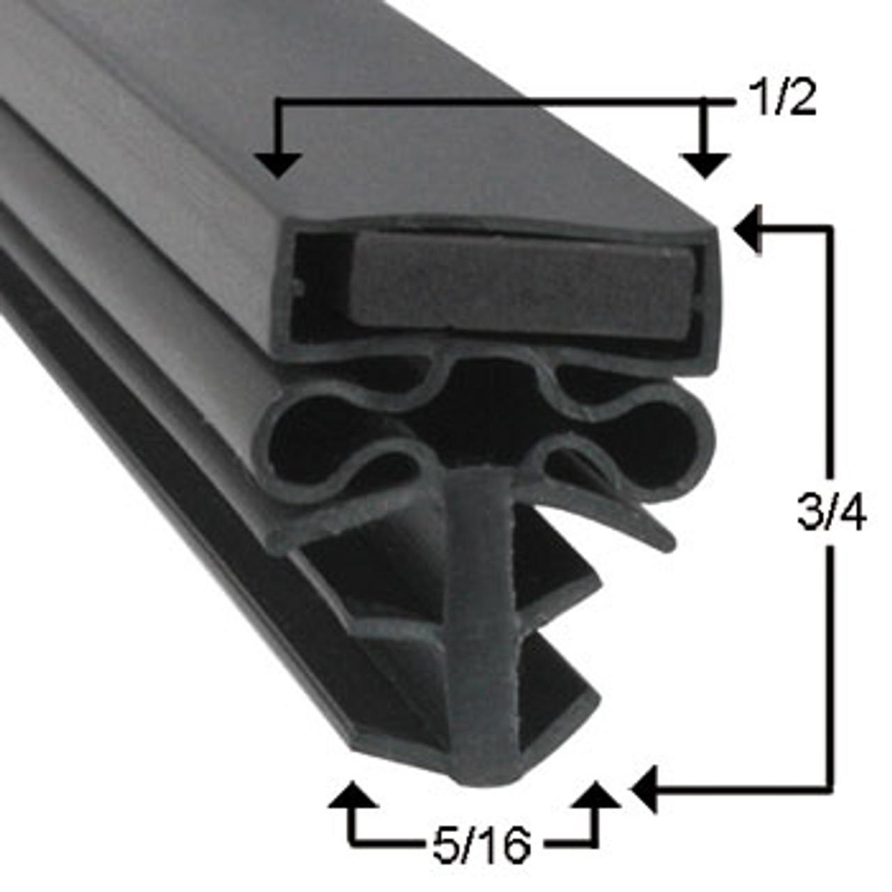 Barr Door Gasket Profile 504 34 1/2 x 78