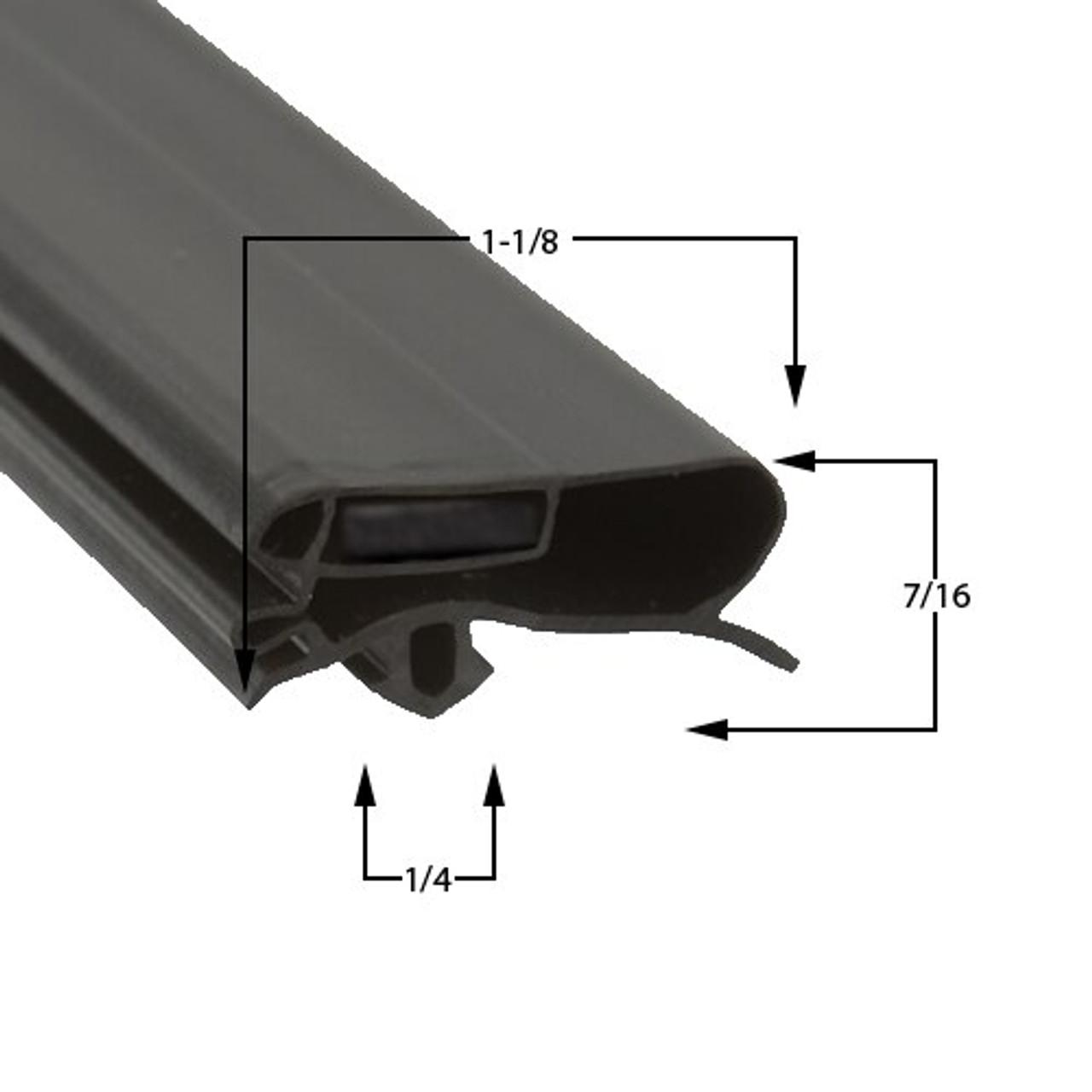 Zero Zone Door Gasket Profile 227 29 1/4 x 62-2