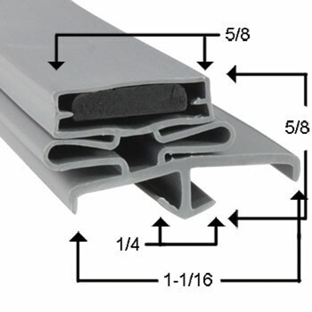 Brown Door Gasket Profile 165 38 x 84 1/2 - 3 sided