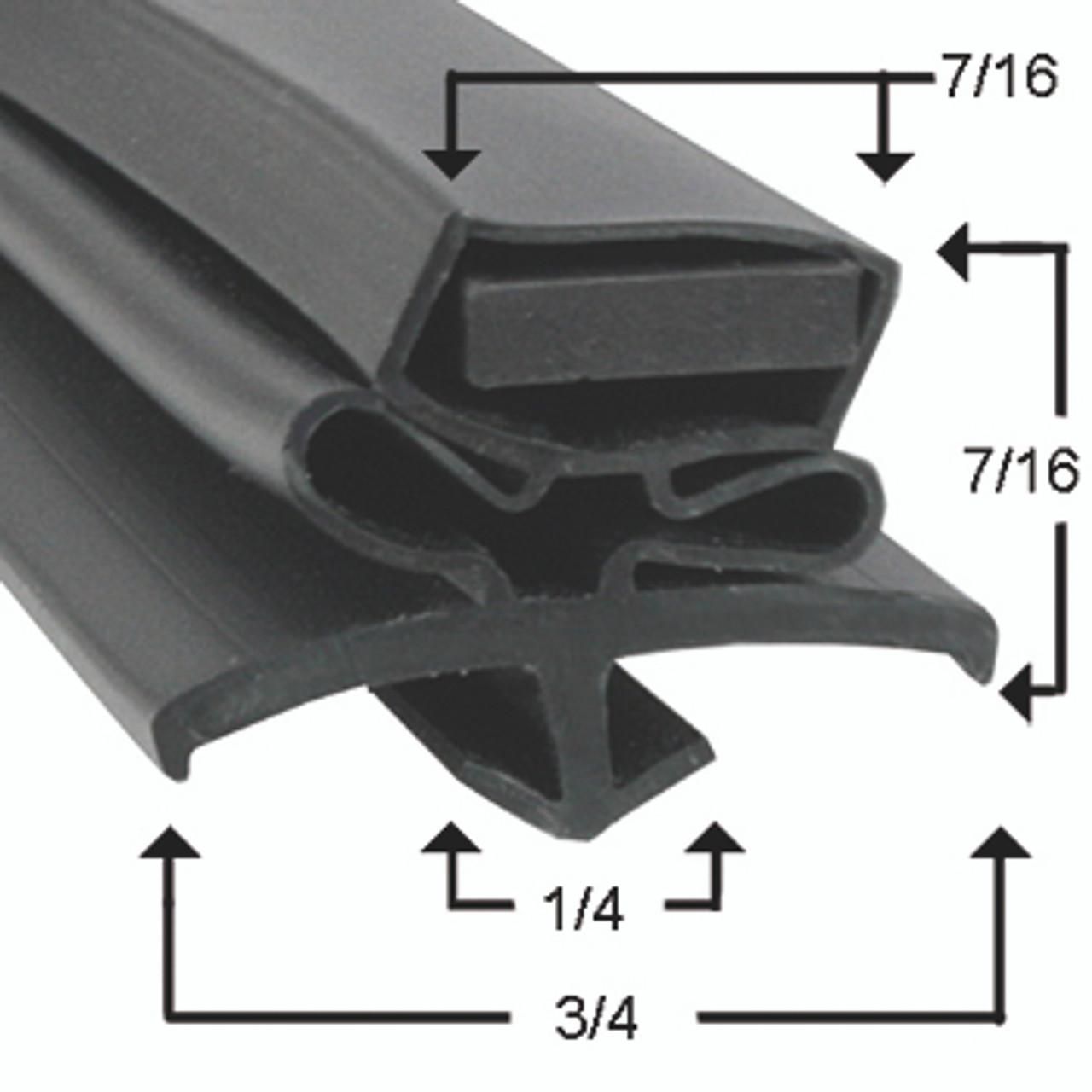 Beverage Air Door Gasket - Profile 016 24 3/4 x 66 1/2-404-230C