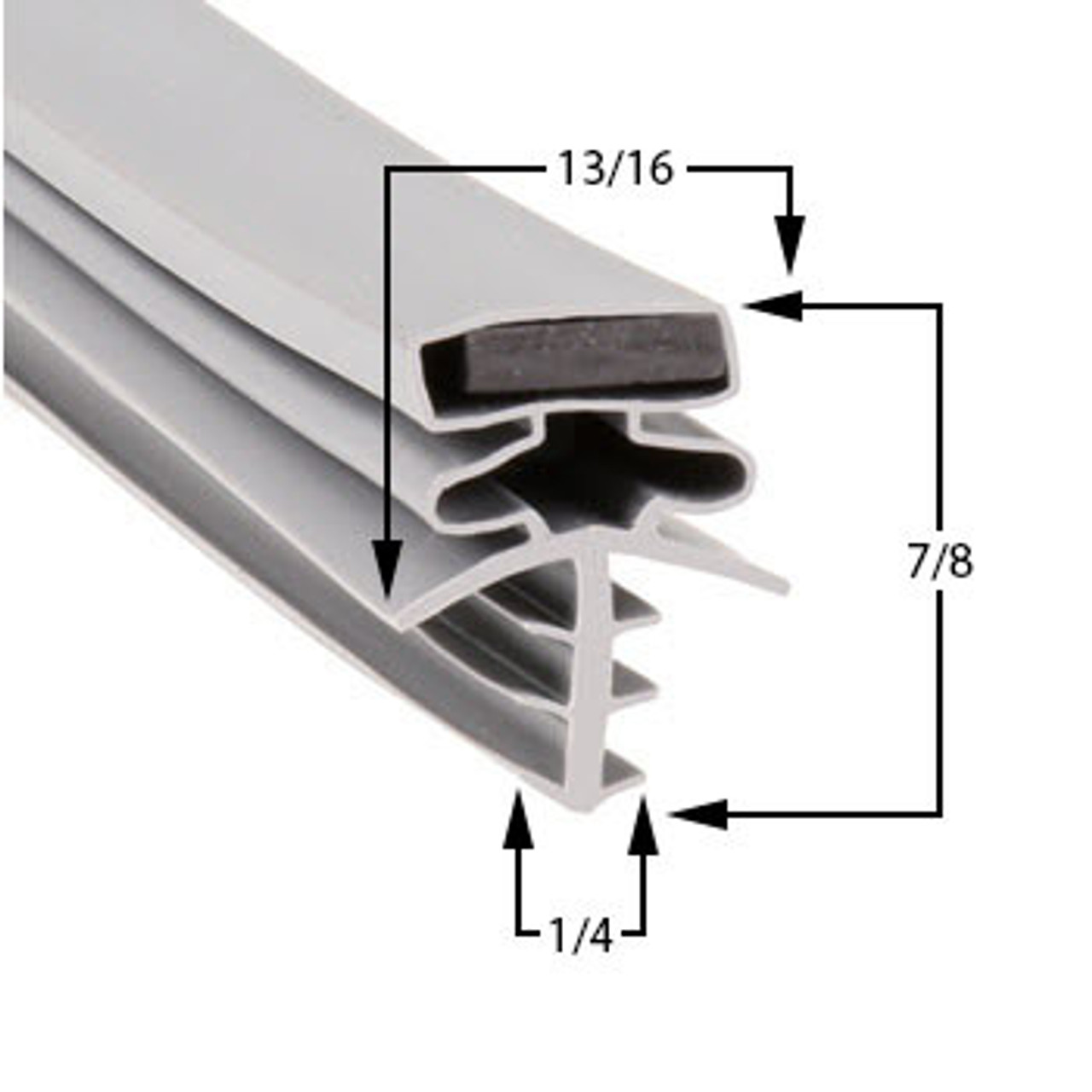 Brown Door Gasket Profile 301 35 1/4 x 78 3/8 -A2.0429-2