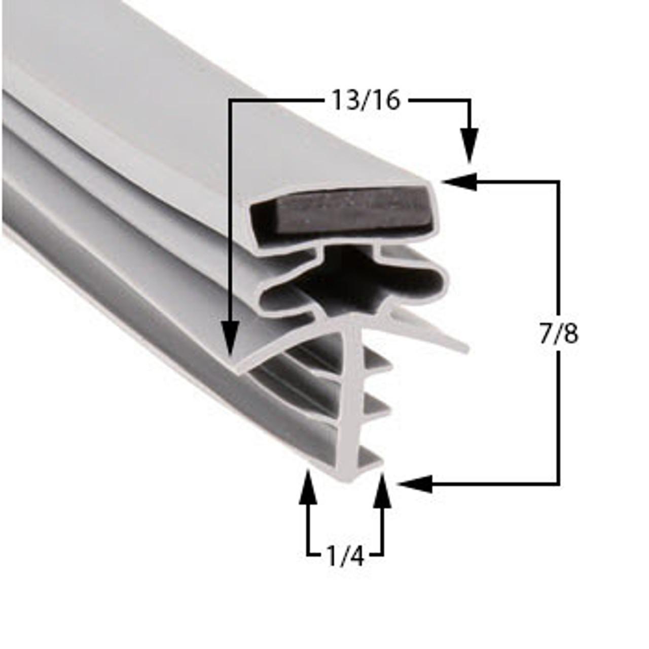 Brown Door Gasket Profile 301 35 3/8 x 78 -A2.0428-2