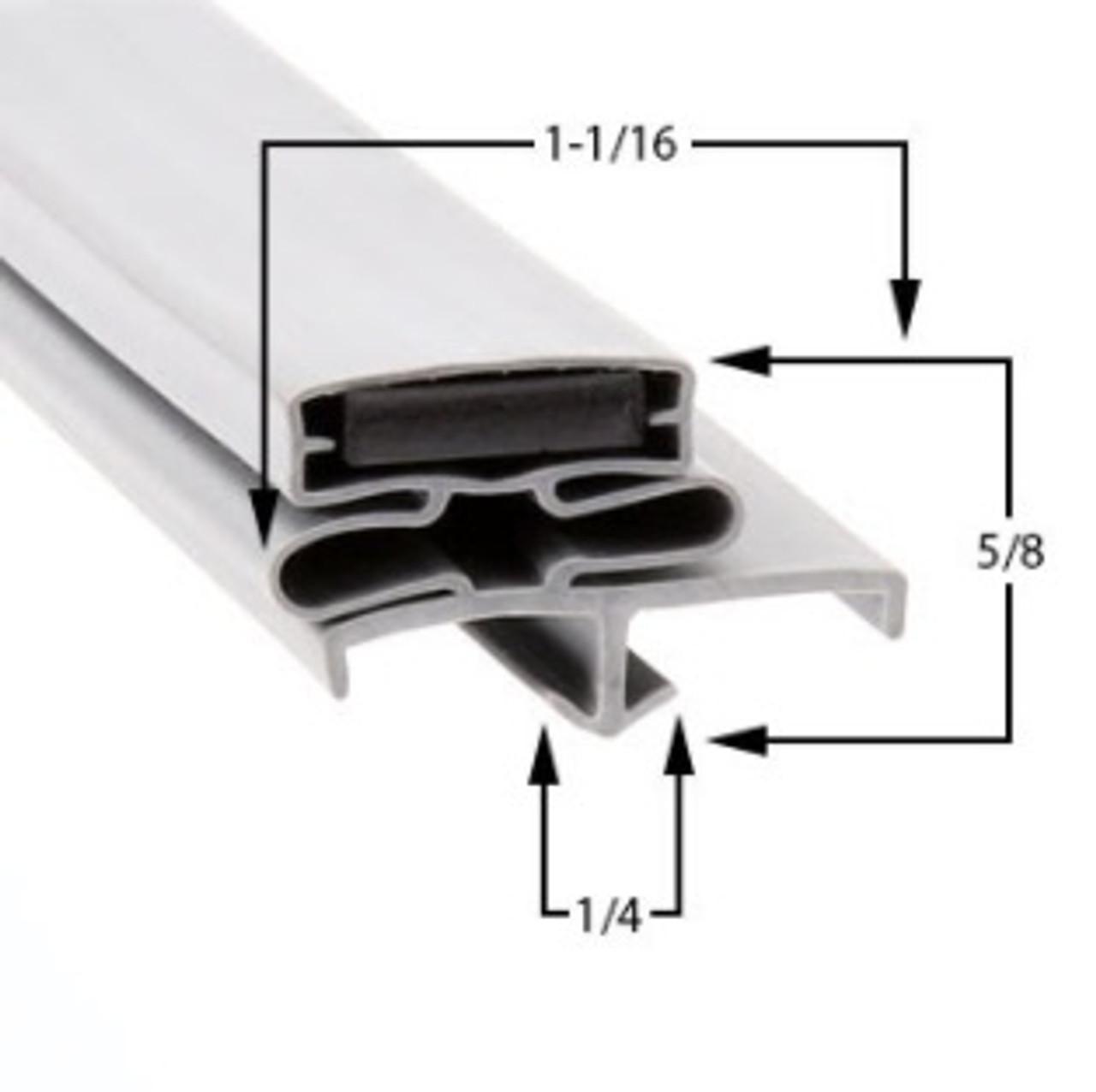 Delfield Door Gasket Profile 168 22 7/8 x 59 1/4 -A2.0881, 170-2295-C-2