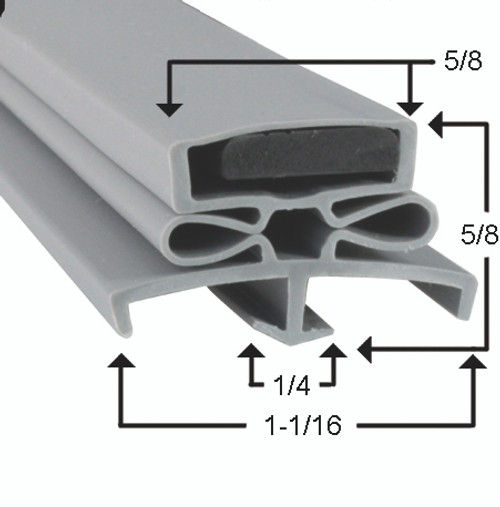 Glenco Door Gasket Profile 166 22 5/8 x 59 3/8 -2