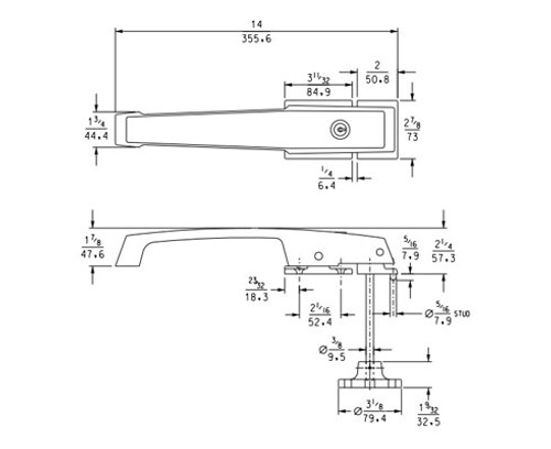 Kason 1236 Series Heavy Duty Lever Locking Handle