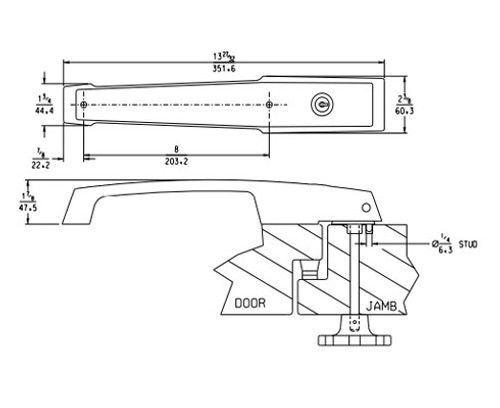 Kason 1239 Series Pacesetter Locking Handle