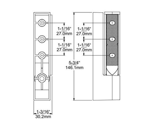 Kason-1367R-Universal-Cam-Rise Lift-Off Hinge-11367R00016-2