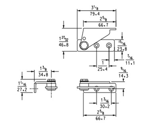 Kason-1513-Pivot-hinge-11513000004-diagram-with-dimensions