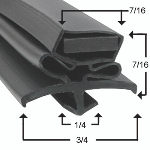 Compatible with True Mfg  810812 Gasket Profile 016 24 3/8 X 26-2
