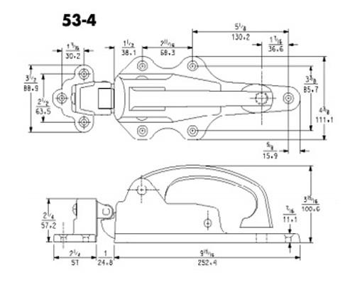 Kason-53-iron-padlocking-latch-strike-10053000004-10053000064-10053000008-with-dims