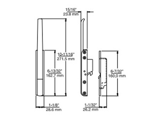Kason-531-series-latch-and-strike-with dimensions