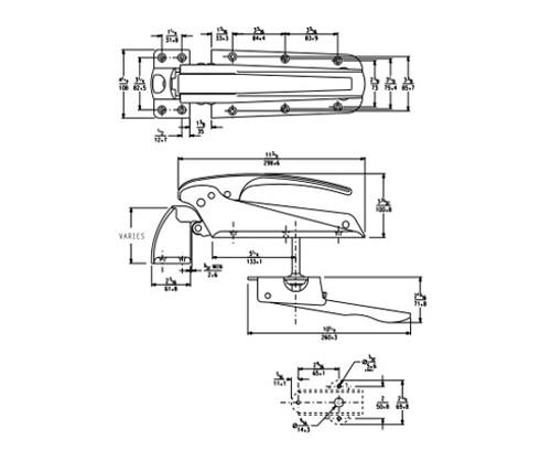 Kason-55-series-walk-in-door-hinge-cooler-freezer-10055000020-10055000024-10055000028-10055000032-with-dimensions