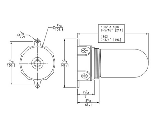Kason-1806-vapor-proof-compact-flurescent-light-fixture-11806LEDGU24-dimensions