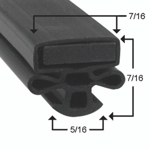 Kelvinator Door Gasket Profile 010 24 1/2 x 62 1/2 -2