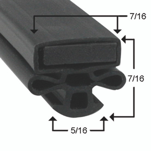 Kelvinator Door Gasket Profile 010 29 3/4 x 62 -2
