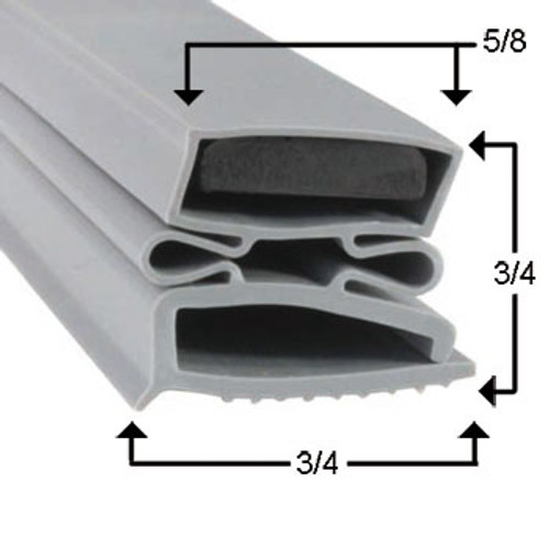 Kolpak Door Gasket Profile 494 38 x 79 - 3 sided-2