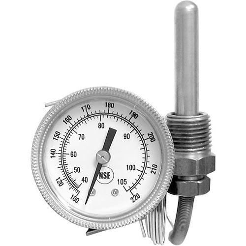621113 - American Dish Service - Gauge, Temperature -100-220, Rear Palnut - 299-1004