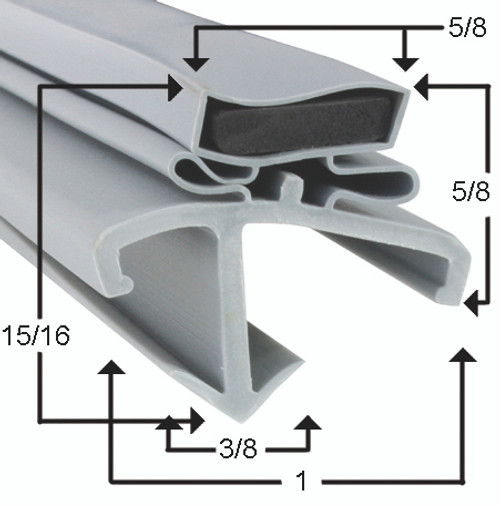 American Panel Door Gasket Profile 601 30 x 77-2