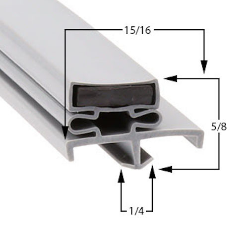 American Panel Door Gasket Profile  168 38 1/2 x 77 5/8-2