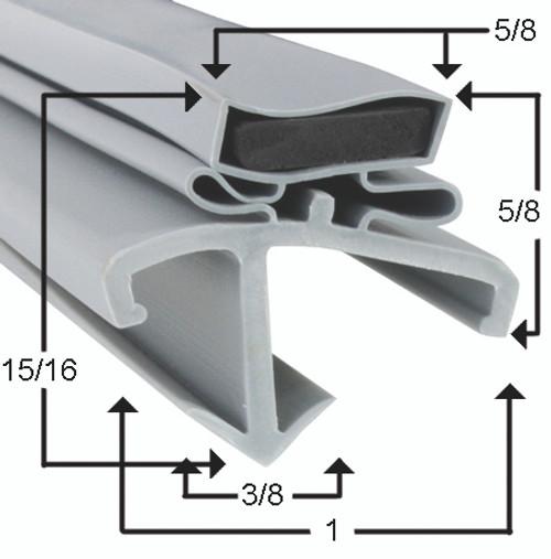 American Panel Door Gasket Profile 601 38 3/8 x 79 1/4-2