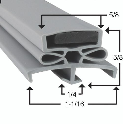 Traulsen Door Gasket Profile 166 22 7/8 x 59 3/4 -2