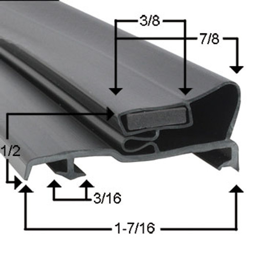 Ardco Door Gasket Profile 290 23 1/8 x 71 7/8