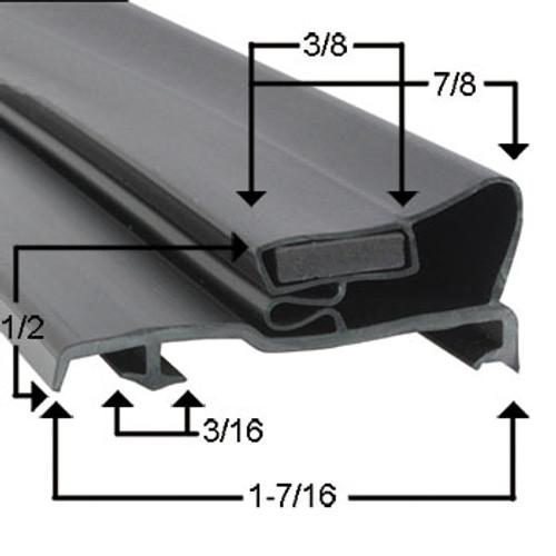 Ardco Door Gasket Profile 290 25 11/16 x 71 7/8
