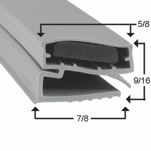 Utility Door Gasket Profile 424 14 1/4 x 25 9/16 -2