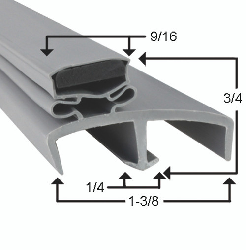Victory Door Gasket Profile 085 37 7/8 x 77 5/8 -2
