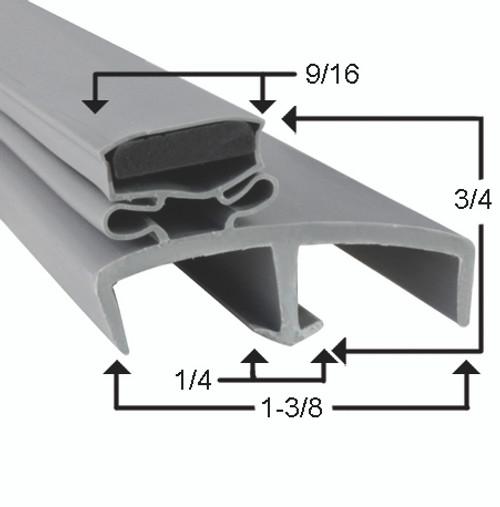 Victory Door Gasket Profile 085 30 1/4 x 68 -2