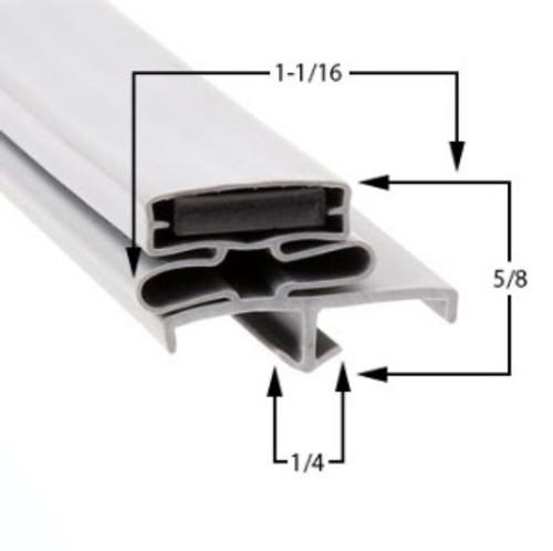 Vulcan Hart Door Gasket Profile 168 28 3/8 x 67 (3-sided) -2