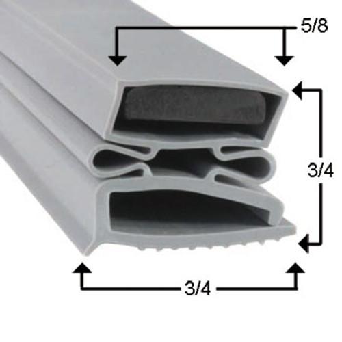 Vulcan-Hart Door Gasket Profile 494 36 1/4 x 77 -2