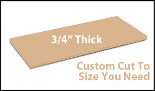 Custom Cutting Board - 3/4 Inch Thick - Tan