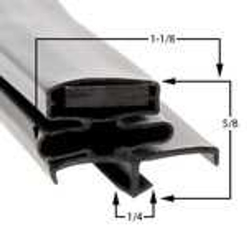 Profile 164 - Custom Refrigeration Gasket Custom Gaskets 0