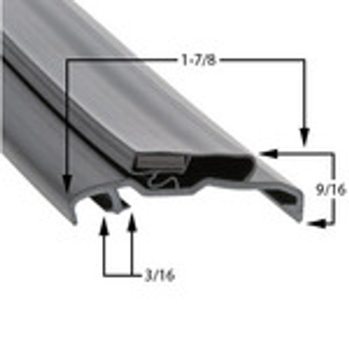 Custom Size Cooler and Freezer Gasket Profile 385 (Style 9538)