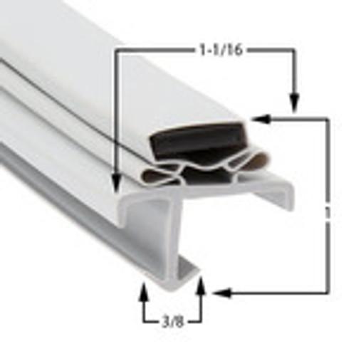 Custom Size Cooler and Freezer Gasket Profile 601 (Style 9566)