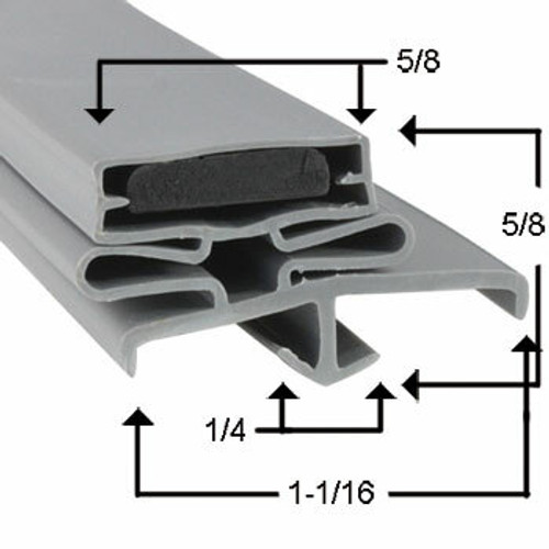 Profile 165 - Custom Refrigeration Gasket Custom Gasket3