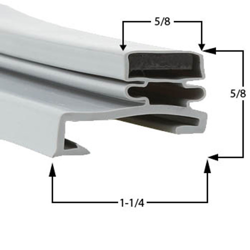 Victory Door Gasket Profile 518 8 3/4 x 25-2