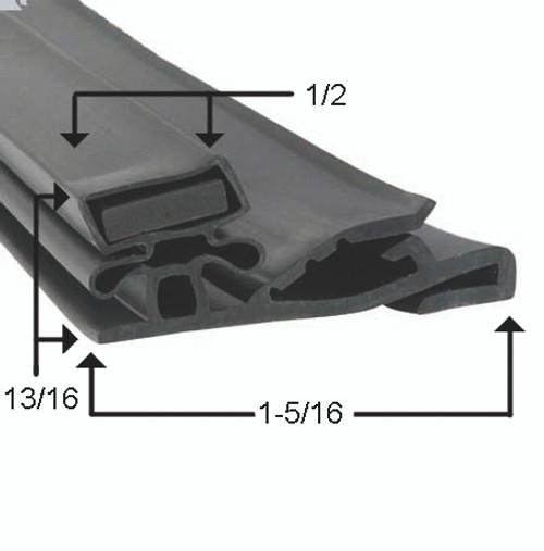 Styleline Door Gasket Profile 852 26 x 63-2